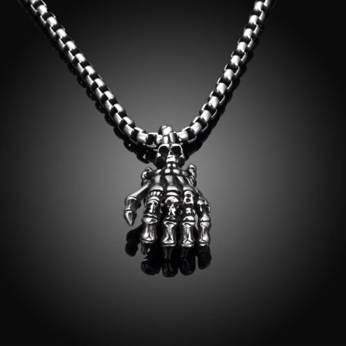 Silver 4mm Unisex Stainless Steel Chain Necklace Pendant Link Jewelry Skull Hot