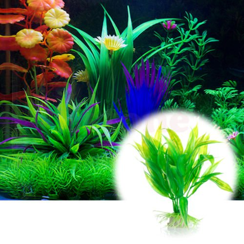 Artificial Plastic Tree Plant Grass Aquarium Fish Tank Ornament Decoration Decor