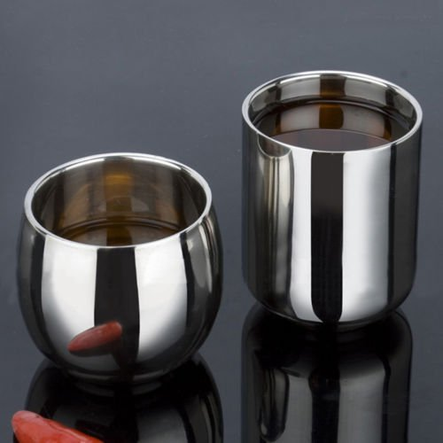 Korean Style 180ml Double Layer Stainless Steel Cup Vacuum Insulated Tumbler