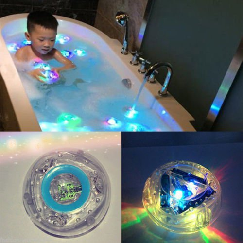 Colorful Floating Underwater LED Light Glow Swimming Pool Kids Shower Tub Lamp