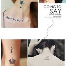 New Design Metallic Flash Temporary Tattoos Stickers Temporary Body Art Tatoo