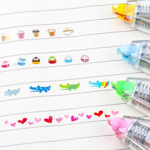 1x School Stationery Decoration Tape Pen for DIY Scrapbook Diary Kids Office Toy