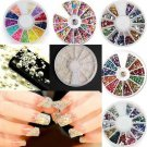 3D Fashion Nail Art Tips Acrylic Gem Glitter Manicure DIY Decoration Wheel C0001