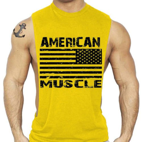 New  Men Gym Bodybuilding Tank Tops Individuality Original Wings Trainning Vests