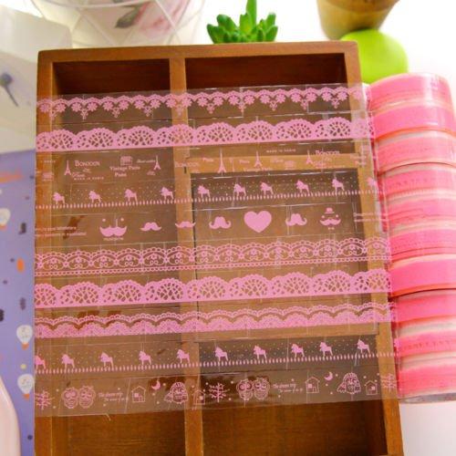 10 X Pretty Sparkling DIY Diary Decorative Stickers Tape Stationery * 2 Type