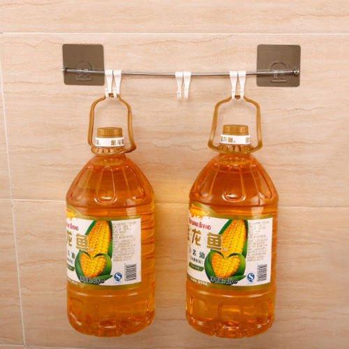 Strong Suction Modern Bathroom Towel Rack Bar Holder Open Ring Wall Mount Holder