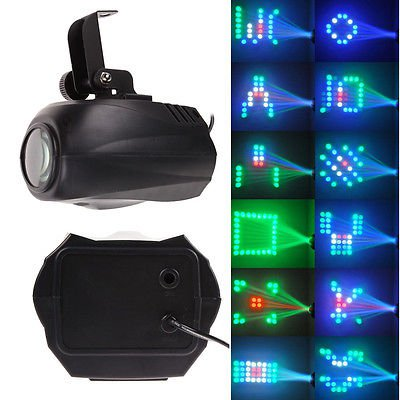 64 LED RGB Light Stage Party Disco Laser Lighting Effect Auto / Voice-activated
