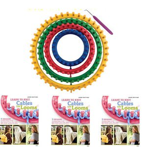Classical Plastic Knitter Knitting Knit Loom Kit Round Circle Hat DIY Tool 14cm