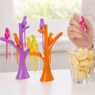 100pcs Flexible Bendy Drinking Straws Assorted Coloured Wedding Party Bar Pub