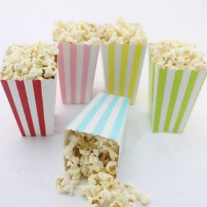 12PCS Rainbow Wedding Birthday Sweet Favour Popcorn Treat Gift Paper Party Bags