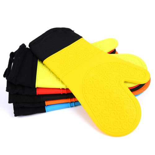 Cartoon Thick Silicone Heat-resistant Kitchen Oven Baking Glove Pot Mitt Holder
