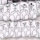 White RipNDip Lord Nermal Cat Case Skin For Samgung Galaxy Various Phone Cover