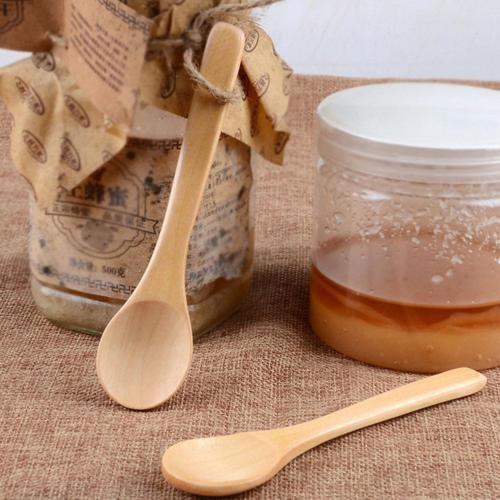 Hollow Heart Wood Dipper Sever Stirring Mixing Stick Spoon Milk Tea Coffee Spoon