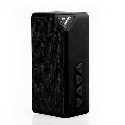 Wireless Wood Texture Bluetooth NFC Speaker Snooze Clock Temp QI Charging Hot