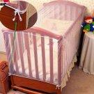 Baby Newborn Mosquito Netting Bed Canopy Mesh Curtain for Nursery Crib Cot White