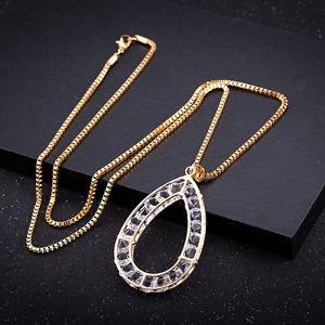 Wedding Bridal Rhinestone Crystal Necklace Drop Pendant Pretty Party Jewelry NEW