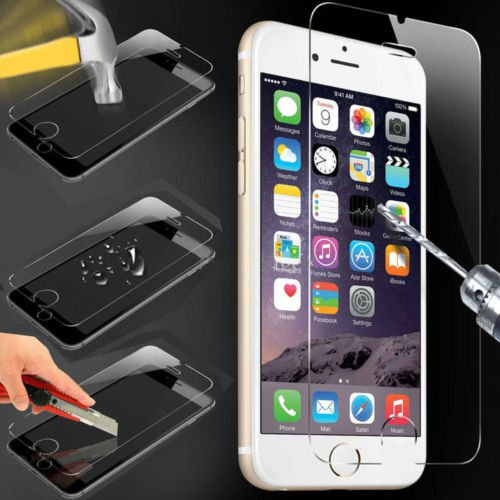 5 Colors Mirror Effect Color Tempered Glass Screen Protector For iphone 6 6 plus