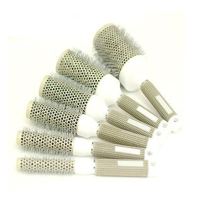 Pro Lady Cylinder Roll Round Comb Health Smooth Straight Curly Hair