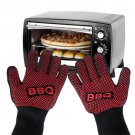 2017 Silicone Oven Mitt BBQ Kitchen Anti-Hot Cotton Lining Glove Pot Pan Grip