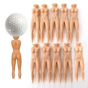 10Pcs Novelty Joke Nude Lady Golf Tee Plastic Practice Training Golfer