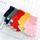 USB Heating Winter Hand Warm Wrist Gloves Heated Woolen Fingerless Warmer Mitten