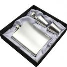 7oz Portable Hip Flask set Stainless Steel Flagon Wine Alcohol Bottle Gift Box