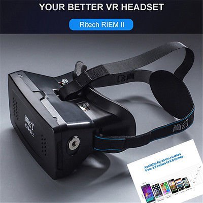 Hot Adjust Cardboard VR BOX Virtual Reality 3D Glasses For iPhone 6 Samsung