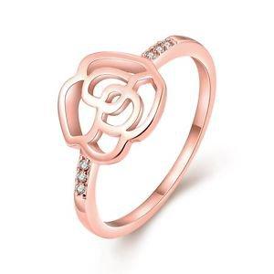 Fashion Luxury Jewelry Ring Bridal Band Wedding Engagement Rose Gold Plated