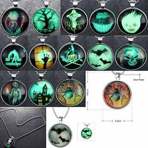 Iuminous Hallowmas Day Necklace Pendant Sweater Dark Glow Fashion Chain Jewelry