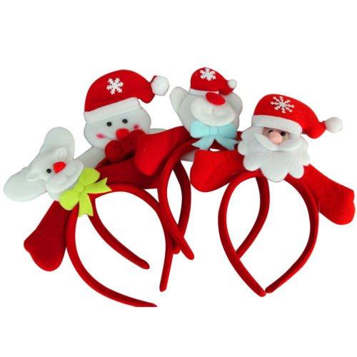 XMAS Women Girs Kid Christmas Deer Antlers Costume Ear Party Hair Head Band Prop