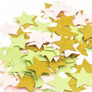 100pcs 3cm Glitter Little Star Shaped Wedding Confetti Birthday Party Decoration