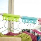 10pcs Candy Color Metal Roll Hoist Five Shower Curtain Hooks