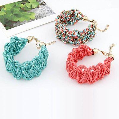 Newest Charm Bohemia Beads Multilayer Bracelet Bangle Cuff Fashion Women Jewelry