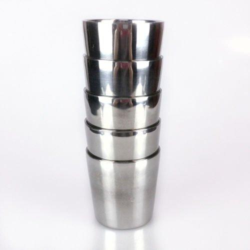 Heat Resistant Stainless Steel Two Layers Mug Travel Tumbler Coffee Tea Milk Cup