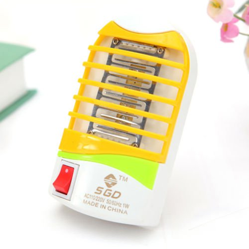 New Cartoon Mini LED Electric Insect Mosquito Pest Repellent Catcher Trap Lamp