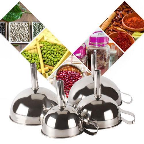Small Size Kitchen Foldable Silicone Funnel Liquid Seasoning Funnel Color Random