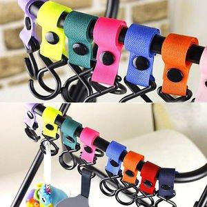 2pc Useful Baby Pushchair Pram Stroller Buggy Hanger Carabiner Bike Clip Hooks