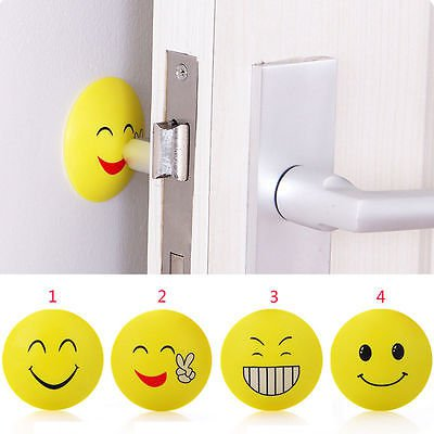 Silicone Sucker Wall Protector Door Handle Crash Pad Bumper Stopper Rubber Stop