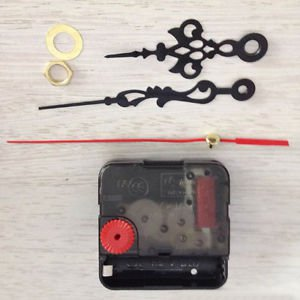 Black Quartz Wall Clock Movement Mechanism Balanced Hands DIY Repair Parts Kit