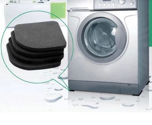 4PCS Black Refrigerator Mute Mat Washing Machine Anti Vibration Pad Shock Mats