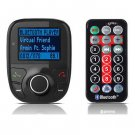 New Bluetooth LCD Car Kit MP3 Player FM Transmitter Modulator SD MMC USB Remote