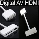 Hot Digital AV HDMI to HDTV Cable Adapter for iPad 2 3 iPhone 4 4S iPod Touch