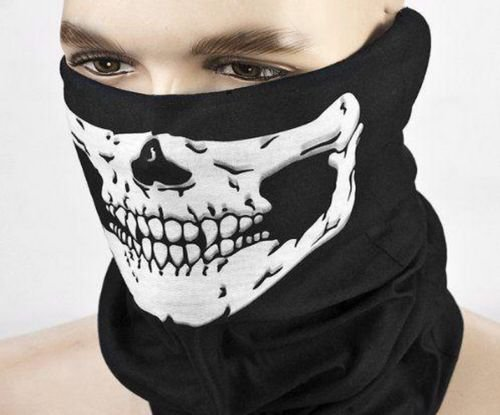 Halloween Party Airsoft Skull Mask Motorcycle Skeleton Half Face Masks Hot