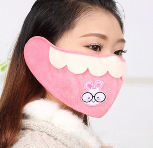 Fashion Women Rabbit Ear Faux Rabbit Fur Earmuffs Soft Warmer Winter Earwarmers
