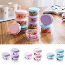 3x Mini Round Plastic Meat Food Storage Container Refrigerator Fresh Crisper Box