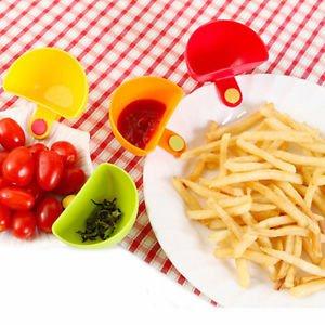 Colorful Clip On Seasoning Dish For Holder Salad Sauce Vinegar Sugar Spice Bowl