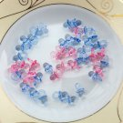 50Pcs/Set Clear Baby Shower Favors Mini Pacifiers Girl Boy Party Decorations HOT
