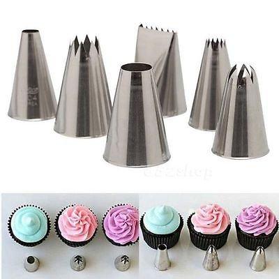Fondant Cake Icing Decoration Syringe Set Plastic Piping 8 Tips Nozzle Tool Kit