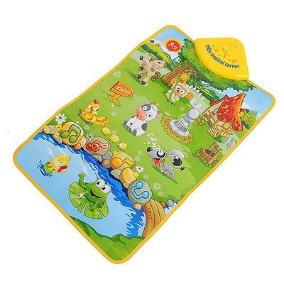 Music Sound Farm Animal Kids Baby Children Play Playing Mat Carpet Hot