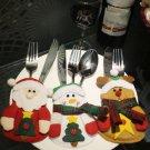 Christmas Table Decoration Silverware Cutlery Tableware Holder Sock Stocking Hot